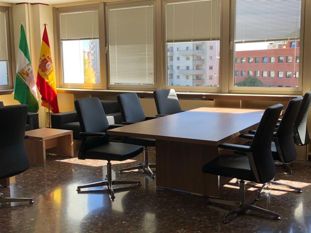 Foto de nuestro trabajo en la Delegación de Málaga